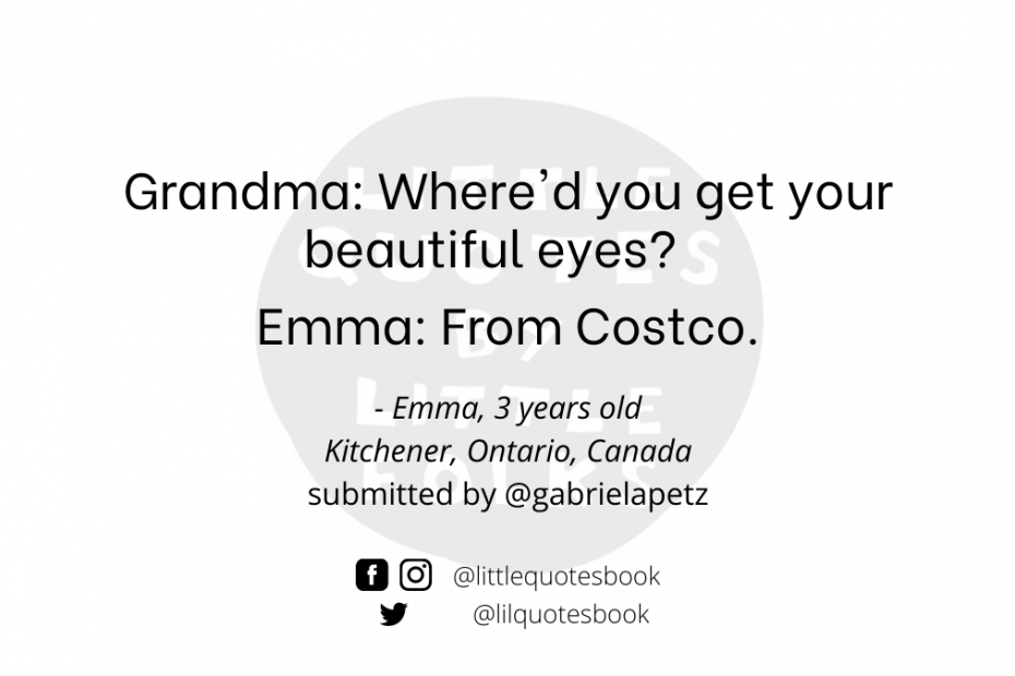 Where'd you get your beautiful eyes? Costco!