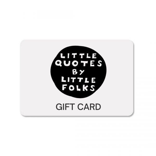 Gift Card for Little Quotes custom work