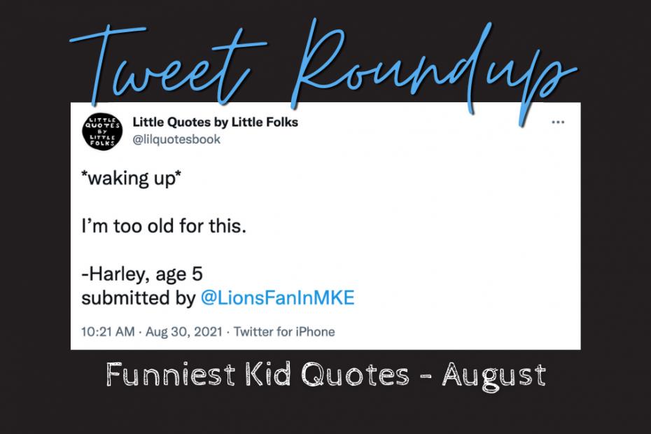 white tweet on a black field for august tweet roundup
